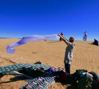 Turban binden im Wind